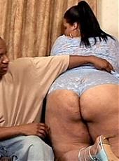 Horny black fatty having her huge ass banged