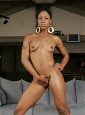 Black pornstar Diva Divine puts on a show on webcam posing and working her phat ebony ass